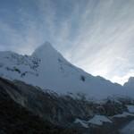 Artesonraju am Tag des Abstiegs