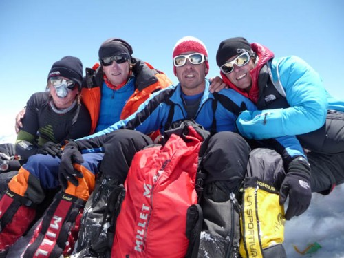Four Austrian at the summit of G1: MD Stefan (first 8000er), Hans (fourth 8000er), Günther (third 8000er), Gerfried (seventh 8000er)